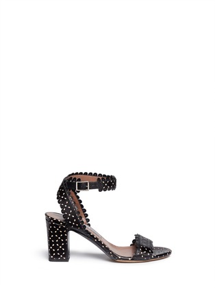 Main View - Click To Enlarge - TABITHA SIMMONS - 'Leticia' perforated leather sandals