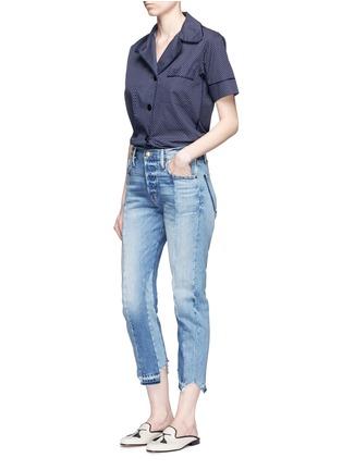 Figure View - Click To Enlarge - Frame Denim - 'Nouveau Le Mix' one of a kind jeans