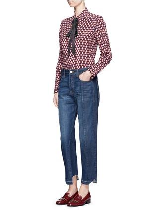 Figure View - Click To Enlarge - Frame Denim - 'Nouveau Le Mix' cropped jeans