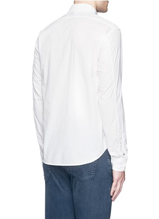 Back View - Click To Enlarge - Alex Mill - 'Shore' patch pocket cotton shirt