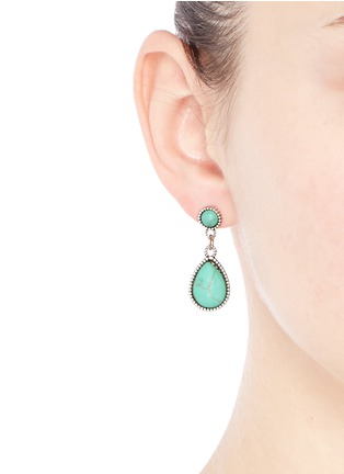 Figure View - Click To Enlarge - Philippe Audibert - 'Crees' stone teardrop earrings