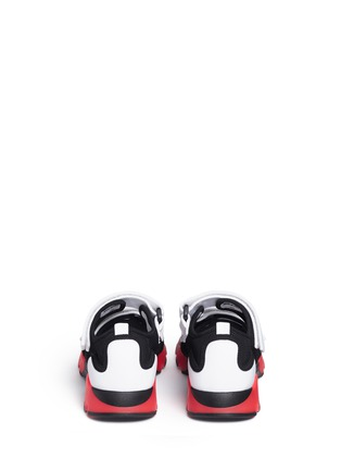 Back View - Click To Enlarge - Marni - 'Scarpa' double strap techno mesh sneakers