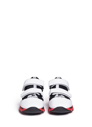 Front View - Click To Enlarge - Marni - 'Scarpa' double strap techno mesh sneakers
