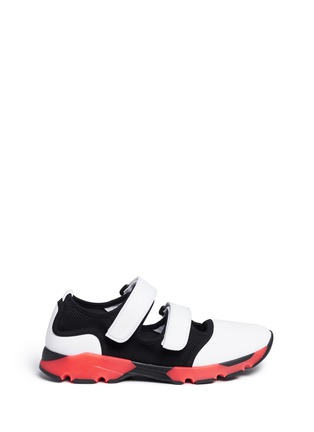 Main View - Click To Enlarge - Marni - 'Scarpa' double strap techno mesh sneakers