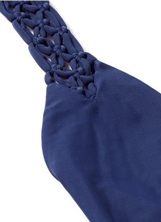 Detail View - Click To Enlarge - Mikoh - 'Mediterranean' macramé halterneck one-piece swimsuit