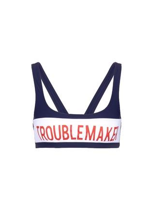 Main View - Click To Enlarge - Zoe Karssen - 'Troublemaker' graphic print sport bikini top