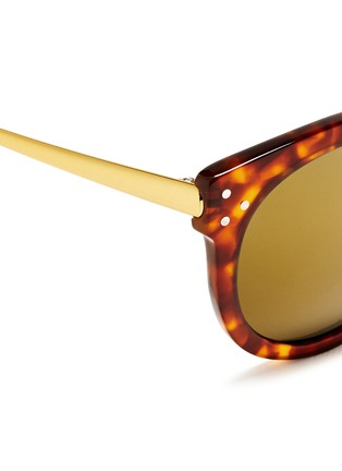 Detail View - Click To Enlarge - SPEKTRE - 'Isabel' tortoiseshell effect acetate mirror sunglasses