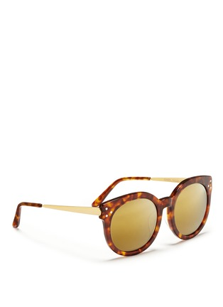 Figure View - Click To Enlarge - SPEKTRE - 'Isabel' tortoiseshell effect acetate mirror sunglasses
