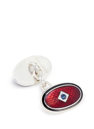 Detail View - Click To Enlarge - Deakin & Francis  - Stone inlay double panel cufflinks