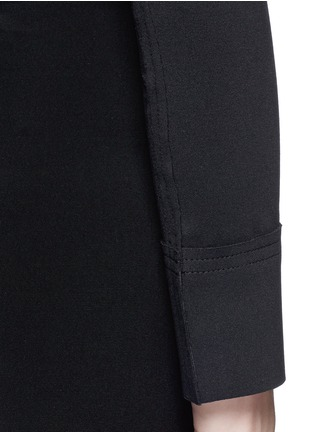 Detail View - Click To Enlarge - Norma Kamali - Raw edged trim stretch cropped top