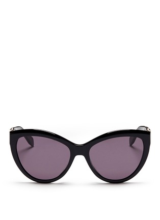 Main View - Click To Enlarge - Alexander McQueen - Piercing hinge acetate cat eye sunglasses