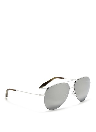 Figure View - Click To Enlarge - Victoria Beckham - 'Classic Victoria' mirror aviator sunglasses