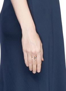 Delfina Delettrez 'Eyes on Me' diamond sapphire 18k gold open ring