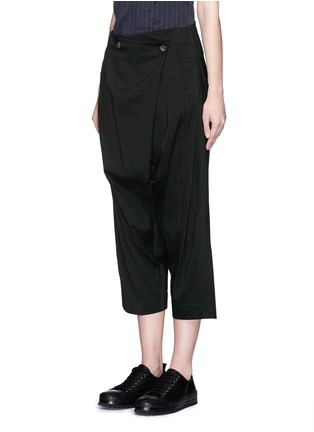 Front View - Click To Enlarge - Song for the Mute - Foldover front drop crotch cropped pants