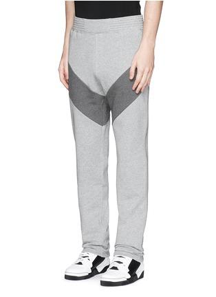 Front View - Click To Enlarge - Givenchy - Diagonal panel jogging pants