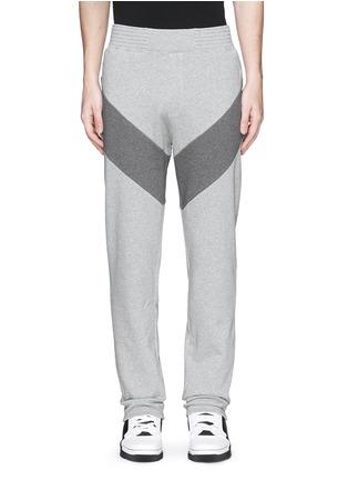 Main View - Click To Enlarge - Givenchy - Diagonal panel jogging pants
