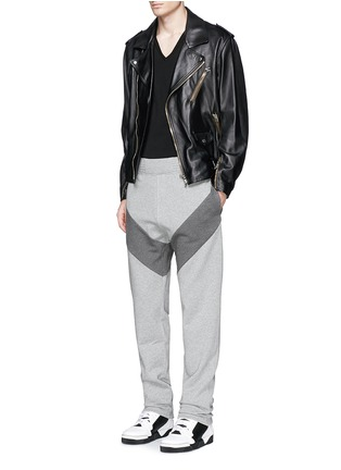 Figure View - Click To Enlarge - Givenchy - Diagonal panel jogging pants