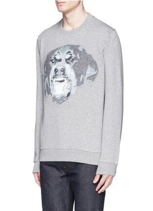 Front View - Click To Enlarge - Givenchy - Rottweiler appliqué sweatshirt