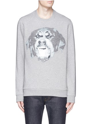 Main View - Click To Enlarge - Givenchy - Rottweiler appliqué sweatshirt