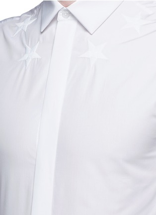 Detail View - Click To Enlarge - Givenchy Beauty - Star embroidery cotton poplin shirt