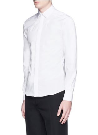 Front View - Click To Enlarge - Givenchy Beauty - Star embroidery cotton poplin shirt