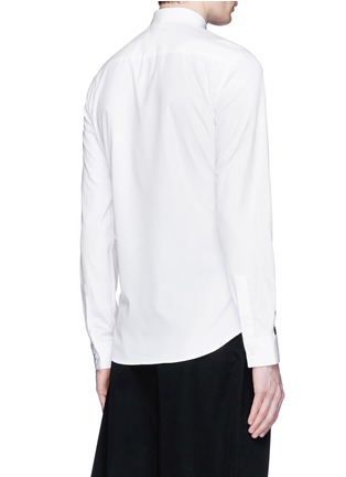 Back View - Click To Enlarge - Givenchy - Contrast cross front shirt