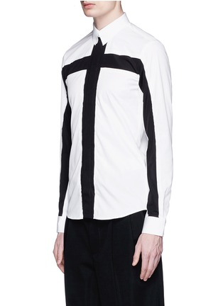 Front View - Click To Enlarge - Givenchy - Contrast cross front shirt