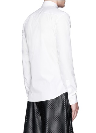 Back View - Click To Enlarge - Givenchy - Pintuck cross front poplin shirt