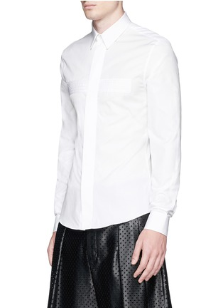 Front View - Click To Enlarge - Givenchy - Pintuck cross front poplin shirt