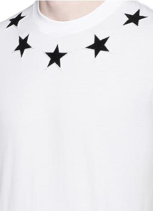 Detail View - Click To Enlarge - Givenchy - Star bouclé appliqué T-shirt