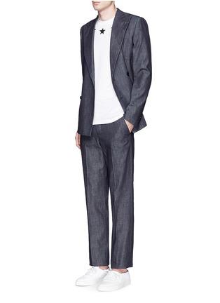 Figure View - Click To Enlarge - Givenchy - Star bouclé appliqué T-shirt