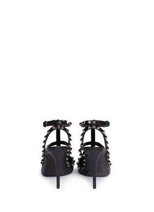 Back View - Click To Enlarge - Valentino - 'Rockstud Noir' caged leather pumps
