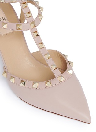 Detail View - Click To Enlarge - Valentino - 'Rockstud' caged leather pumps