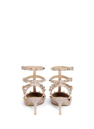 Back View - Click To Enlarge - Valentino - 'Rockstud' caged leather pumps