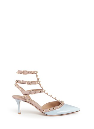 Main View - Click To Enlarge - Valentino - 'Rockstud' caged patent leather pumps
