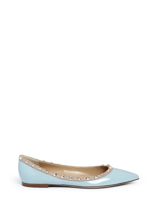 Main View - Click To Enlarge - Valentino - 'Rockstud' patent leather skimmer flats