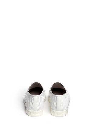 Back View - Click To Enlarge - Vince - Pierce' perforated leather skate slip-ons