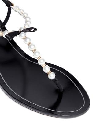 Detail View - Click To Enlarge - René Caovilla - Faux pearl T-strap sandals