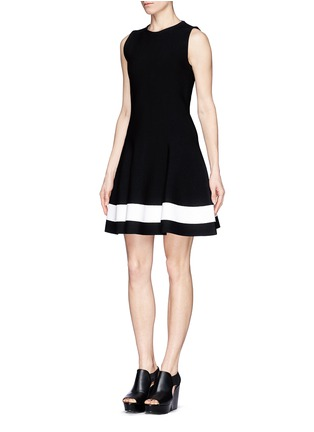 Front View - Click To Enlarge - Victoria Beckham - Single stripe interlock knit dress