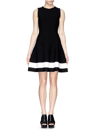 Main View - Click To Enlarge - Victoria Beckham - Single stripe interlock knit dress