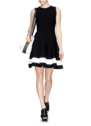 Figure View - Click To Enlarge - Victoria Beckham - Single stripe interlock knit dress