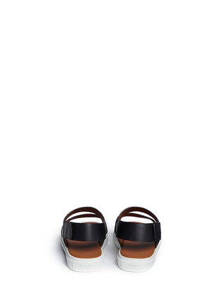 Back View - Click To Enlarge - Givenchy - Baby's breath floral print leather sandals