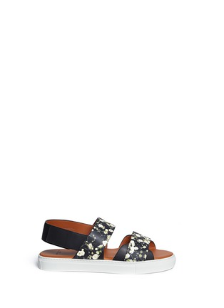 Main View - Click To Enlarge - Givenchy - Baby's breath floral print leather sandals