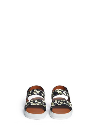 Figure View - Click To Enlarge - Givenchy - Baby's breath floral print leather sandals