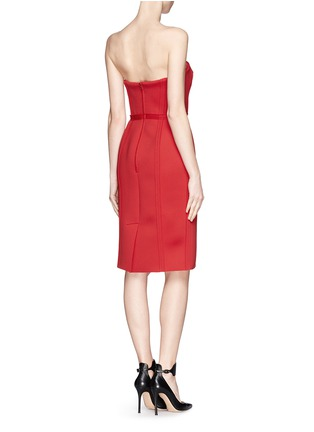 Back View - Click To Enlarge - LANVIN - Neoprene strapless corset dress