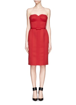Main View - Click To Enlarge - LANVIN - Neoprene strapless corset dress