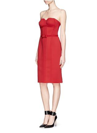 Figure View - Click To Enlarge - LANVIN - Neoprene strapless corset dress