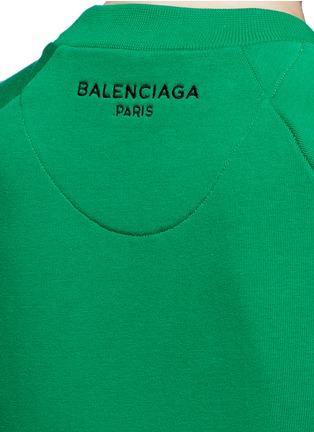 Detail View - Click To Enlarge - BALENCIAGA - Raglan sleeve French terry sweatshirt
