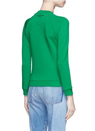 Back View - Click To Enlarge - BALENCIAGA - Raglan sleeve French terry sweatshirt