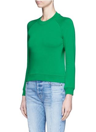 Front View - Click To Enlarge - BALENCIAGA - Raglan sleeve French terry sweatshirt
